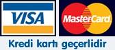Ödemelerinizde kredi kartı kullanabilirsiniz